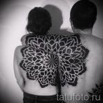 тату мандала на спине - фото пример готовой татуировки от 01052016 35