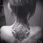 тату мандала на спине - фото пример готовой татуировки от 01052016 36
