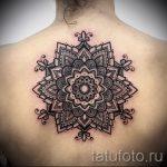 тату мандала на спине - фото пример готовой татуировки от 01052016 37