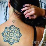 тату мандала на спине - фото пример готовой татуировки от 01052016 38