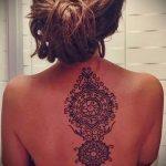 тату мандала на спине - фото пример готовой татуировки от 01052016 4
