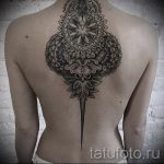 тату мандала на спине - фото пример готовой татуировки от 01052016 6