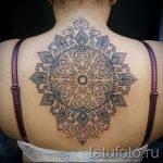 тату мандала на спине - фото пример готовой татуировки от 01052016 7