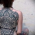 тату мандала на спине - фото пример готовой татуировки от 01052016 9