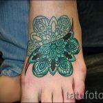 тату мандала на ступне - фото пример готовой татуировки от 23.05.2016 11