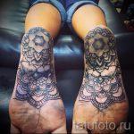 тату мандала на ступне - фото пример готовой татуировки от 23.05.2016 3