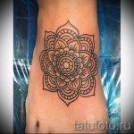 тату мандала на ступне - фото пример готовой татуировки от 23.05.2016 8