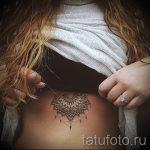 тату мандала под грудью - фото пример готовой татуировки от 01052016 4