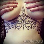 тату мандала под грудью - фото пример готовой татуировки от 01052016 8