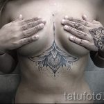 тату мандала под грудью - фото пример готовой татуировки от 01052016 9