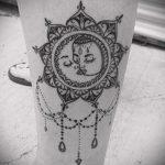 тату мандала солнце - фото пример готовой татуировки от 01052016 2
