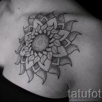 тату мандала солнце - фото пример готовой татуировки от 01052016 5