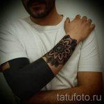 тату мандалы мужские - фото пример готовой татуировки от 01052016 11