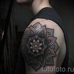 тату мандалы мужские - фото пример готовой татуировки от 01052016 2