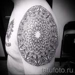 тату мандалы мужские - фото пример готовой татуировки от 01052016 6