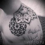 тату мандалы мужские - фото пример готовой татуировки от 01052016 7