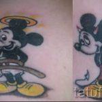 тату микки маус ангел - готовая татуировка от 16052016 2