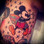 тату микки маус для девушки - готовая татуировка от 16052016 5