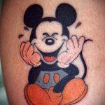 тату микки маус для девушки - готовая татуировка от 16052016 6