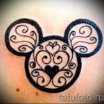 тату микки маус для девушки - готовая татуировка от 16052016 7
