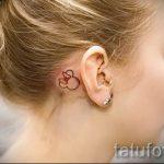тату микки маус за ухом - готовая татуировка от 16052016 1