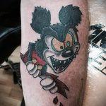 тату микки маус злой - готовая татуировка от 16052016 14