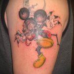 тату микки маус злой - готовая татуировка от 16052016 2