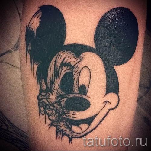 тату микки маус злой - готовая татуировка от 16052016 7