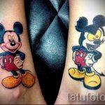 парная татуировка с микки маусом - для двоих