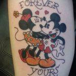 тату микки маус и мини - готовая татуировка от 16052016 1