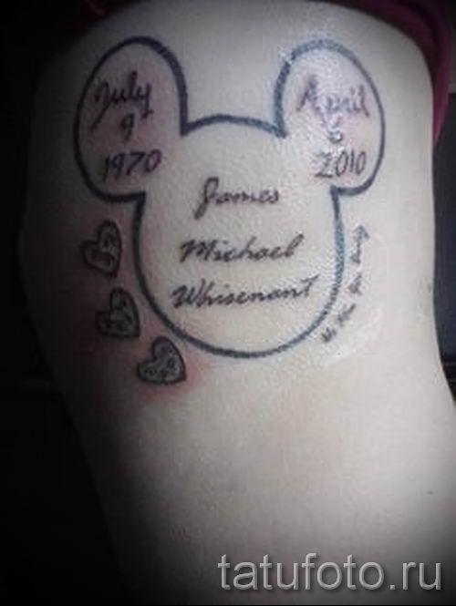 тату микки маус контур - готовая татуировка от 16052016 2