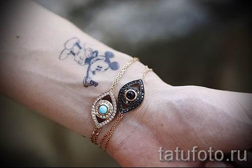 тату микки маус на запястье - готовая татуировка от 16052016 2