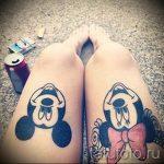 тату микки маус на ноге - готовая татуировка от 16052016 1