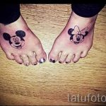 тату микки маус на ноге - готовая татуировка от 16052016 3