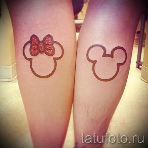 тату микки маус на ноге - готовая татуировка от 16052016 9