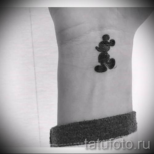 тату микки маус на руке - готовая татуировка от 16052016 10