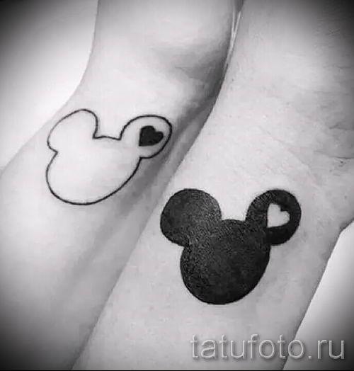 тату микки маус на руке - готовая татуировка от 16052016 17