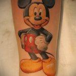 тату микки маус на руке - готовая татуировка от 16052016 21
