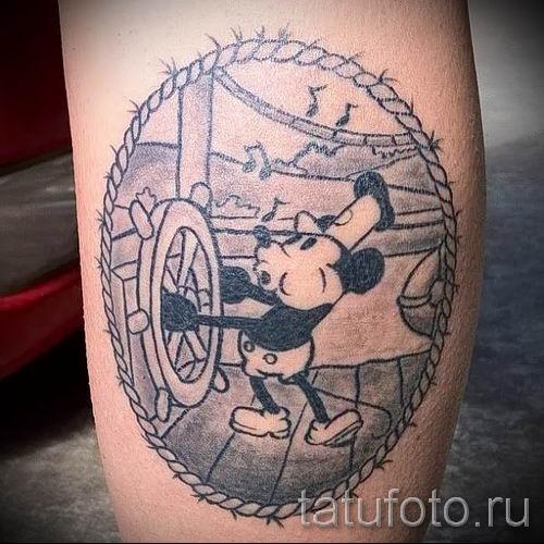 тату микки маус на руке - готовая татуировка от 16052016 26