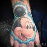 тату микки маус на руке - готовая татуировка от 16052016 28