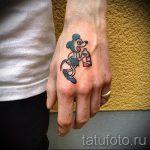 тату микки маус на руке - готовая татуировка от 16052016 3