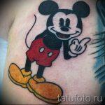 тату микки маус с факом - готовая татуировка от 16052016 1