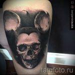 тату микки маус с черепом - готовая татуировка от 16052016 3