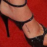 тату надпись на ступне - фото пример готовой татуировки от 23.05.2016 23