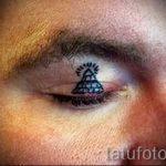 тату на веках глаз стрелки - пример на фото от 22052016 4