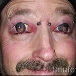 тату на веках глаз стрелки - пример на фото от 22052016 8