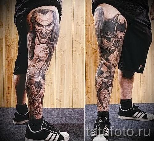 Тату в стиле реализм эскизы на ногу