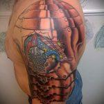 тату на руке доспехи - пример готовой татуировки от 16052016 3