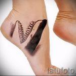тату на ступне акула - фото пример готовой татуировки от 23.05.2016 1