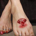 тату на ступне алмаз - фото пример готовой татуировки от 23.05.2016 3